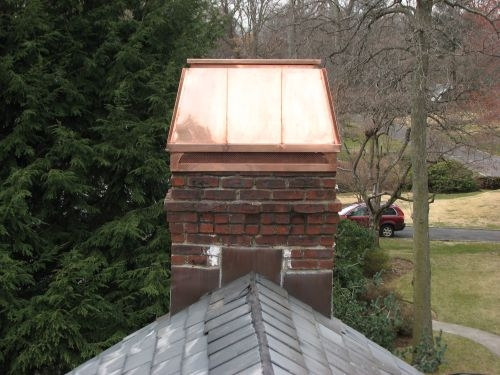 Custom installation of Chimney Cap's