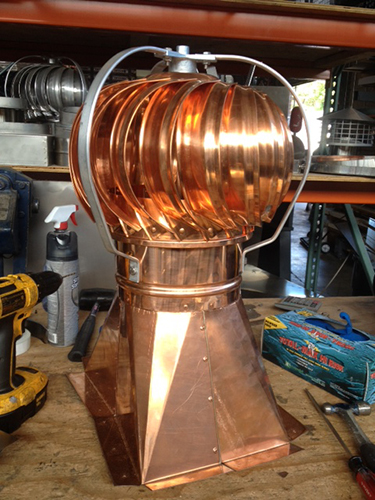 copper turbine cap in Long Island