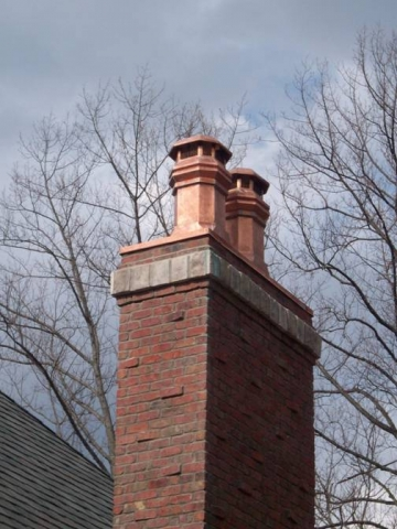 A tudor chimney with chase installed by Best Way Chimney