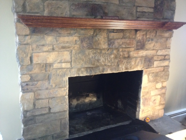 fireplace for chimney - before